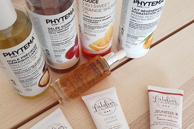 Mon test routine beauté marque phytema et atelier des délices